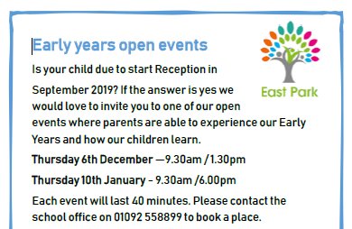 EYFS Reception Open Days